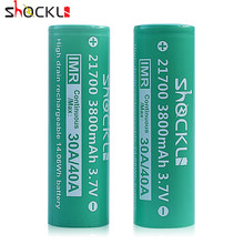 Shockli 21700 battery 3800mAh Li-ion battery 3.7V 30A/40A for Eleaf istick Pico 21700 Box MOD Vape,Capo Squonk RX2 Ijoy Capo(China)