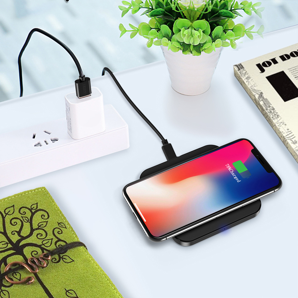 For <font><b>Samsung</b></font> <font><b>Galaxy</b></font> A3 A5 <font><b>A7</b></font> 2017 A8 A8+ Plus A6 A6+ 2018 A4 A4+ Wireless <font><b>Charger</b></font> Charging Pad Qi <font><b>Chargers</b></font> Receiver Silicon Case image