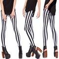 Mulheres Sexy Impressão Digital de Leggings Black & White Bar Glalaxy Legins Casual Calças Lápis Calças Meninas Roupas Workuot Leggins
