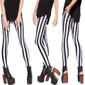 Sexy Women Leggings Black&White Bar Glalaxy Digital Printing Legins Casual Pencil Pants Workuot Pants Girls Clothes Leggins