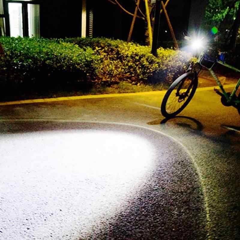 Good Usb Chargeable Super Bright Lustre Flashlight Waterproof Bike Lamp Torch Bicycle Bracket Clip Houlder Lanterna Lights & Lighting Portable Lighting