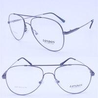 Retailsale 8205 jante pleine flexible mémoire titanium double pont pilot big taille optique lunettes cadre pour homme