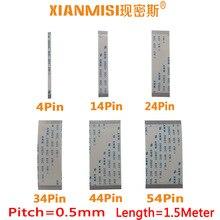FFC FPC плоский гибкий ленточный кабель 4Pin 14Pin 24Pin 34Pin 44Pin 54Pin та же Сторона 0,5 мм Шаг AWM VW-1 20798 60 в Длина 1,5 м 5 шт