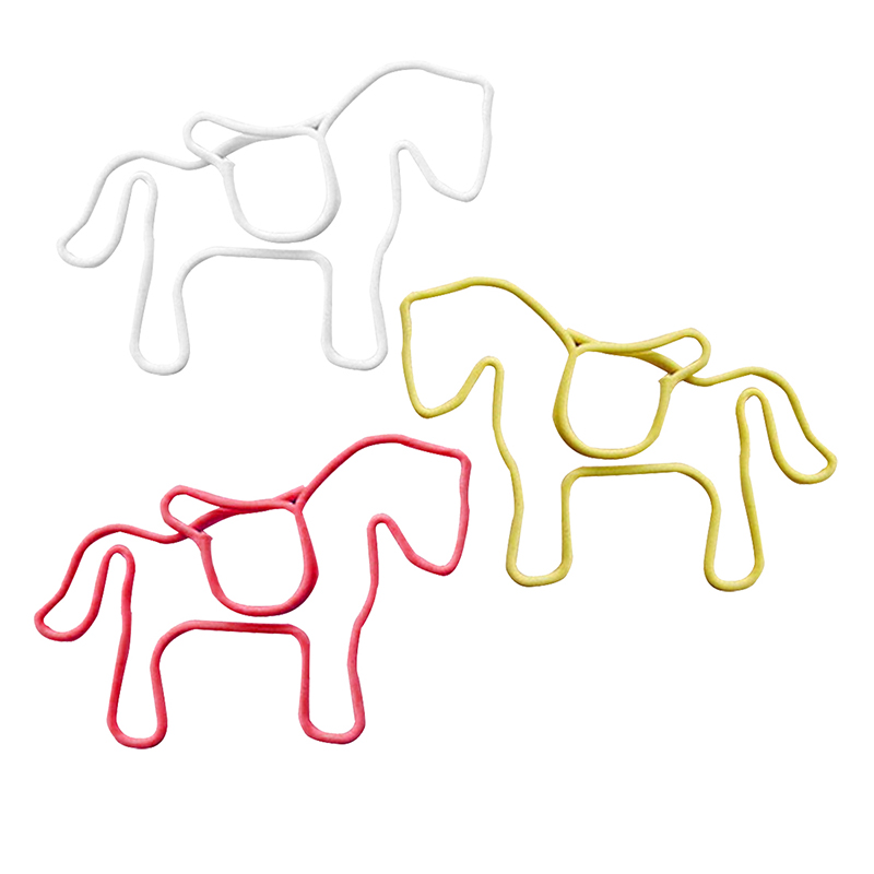 Metal Paper Clips 24 Pieces In PVC Box Horse-SCLL