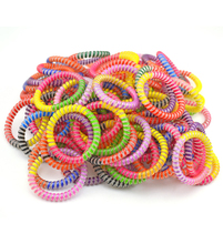 цена на 5cm Lots  100pcs  Rainbow Tie Hairband Hair Rubber Rope Bands Telephone Wire Line Gum Hair Ring Beauty Headband For Women Girl
