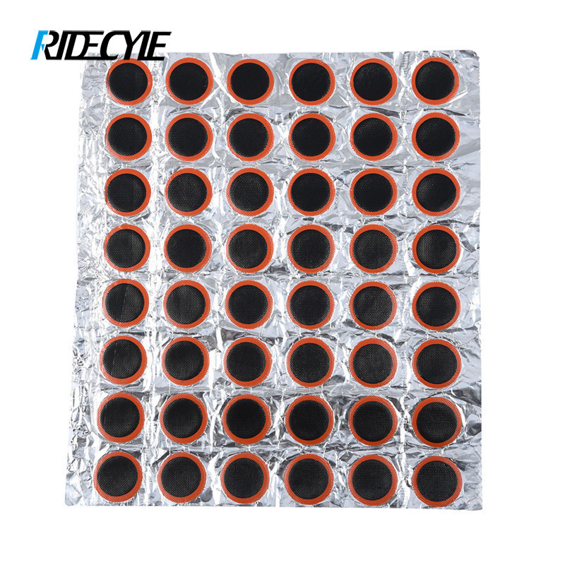 48Pcs/Lot 25mm Round Bicycle Bike Tire Tyre Rubber Patch Piece Repair Tools Kits for Cycling Bike Film/Tire Maintenance цена