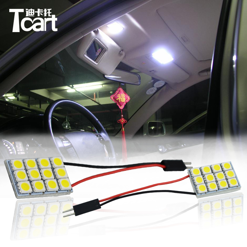Tcart 6 X Error Free Car LED Bright Vehicle Interior Map Dome Door Lights Kit Package For Toyota Land Cruiser 100 Accessories