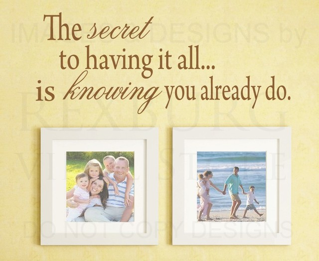 Wall Sticker Decal Quote Vinyl Art Saying The Secret to Having it ...