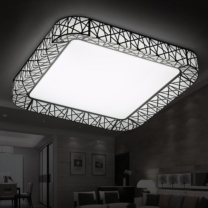 Modern brief rectangle bird nest LED acrylic ceiling light fixture home deco living room remote control iron ceiling lamp modern japanese tatami wood octagon led ceiling lamp bried chinese home deco living room acrylic yurts ceiling light fixture