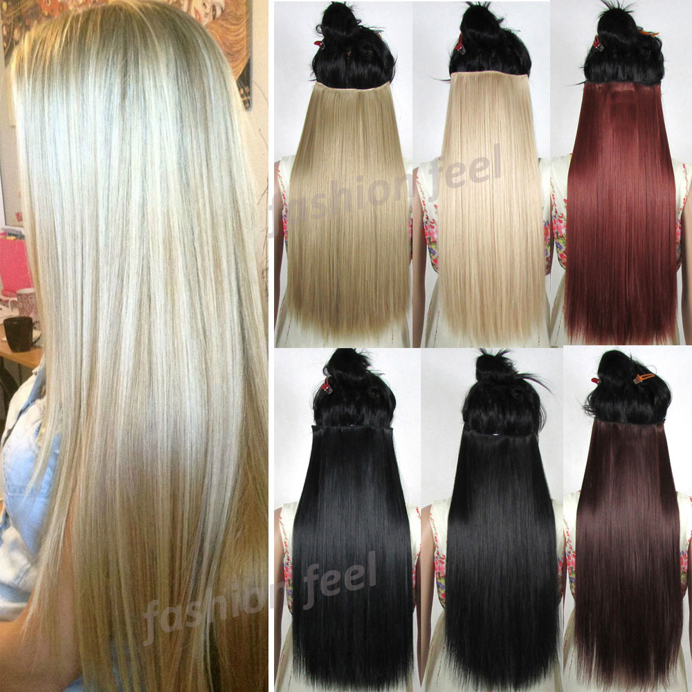 S Noilite Hair Extensions Black Brown Blonde Natural Straight 58