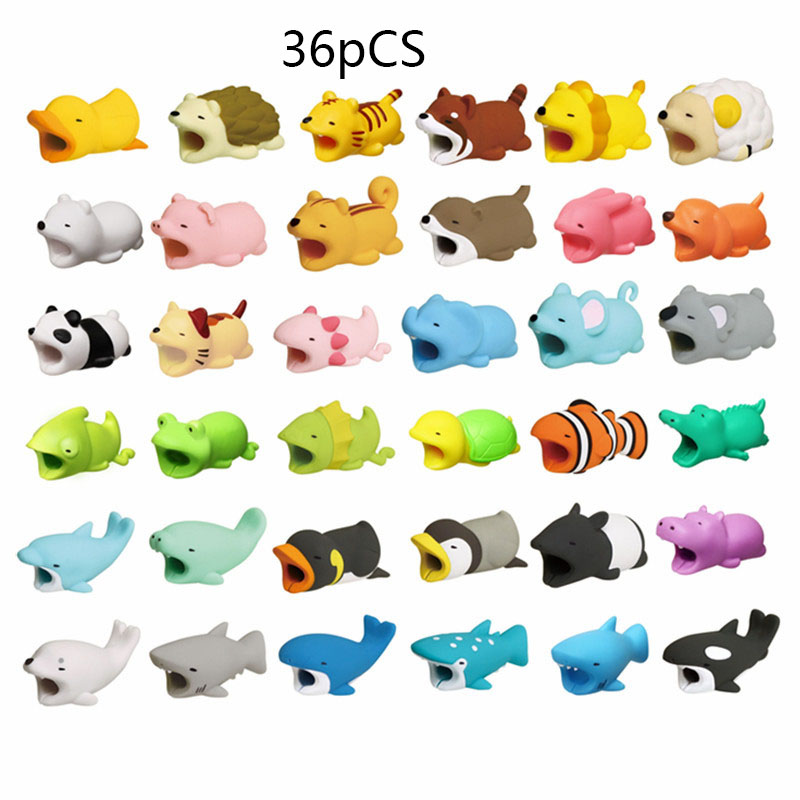1 pcs Animal Cable bites Protector for Iphone protege cable buddies cartoon Cable bites kabel diertjes Phone holder Accessory 1