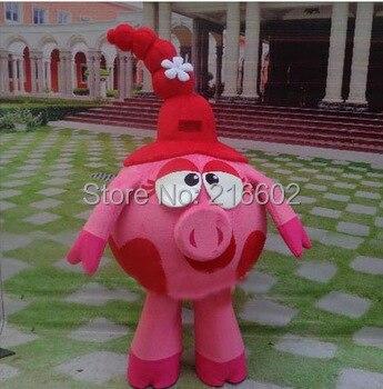 cosplay costumes Smesharik nyusha Mascot Costume pink pig Advertising Costume adult size Smesharik nyusha Mascot Costume