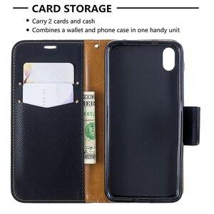 Image 5 - Portfel telefon obudowa do Xiaomi Redmi Note 8 Pro uwaga 7 7A K20 Pro 6A 6 Pro etui z klapką ze skóry Magetic posiadacz karty stań pokrywy