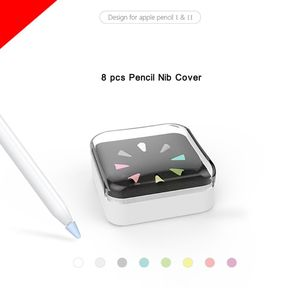 8pcs Silicone Replacement Protective Tip Case Nib Cover Skin For Apple ipad Pencil 1st 2nd Stylus Touchscreen Pen(China)