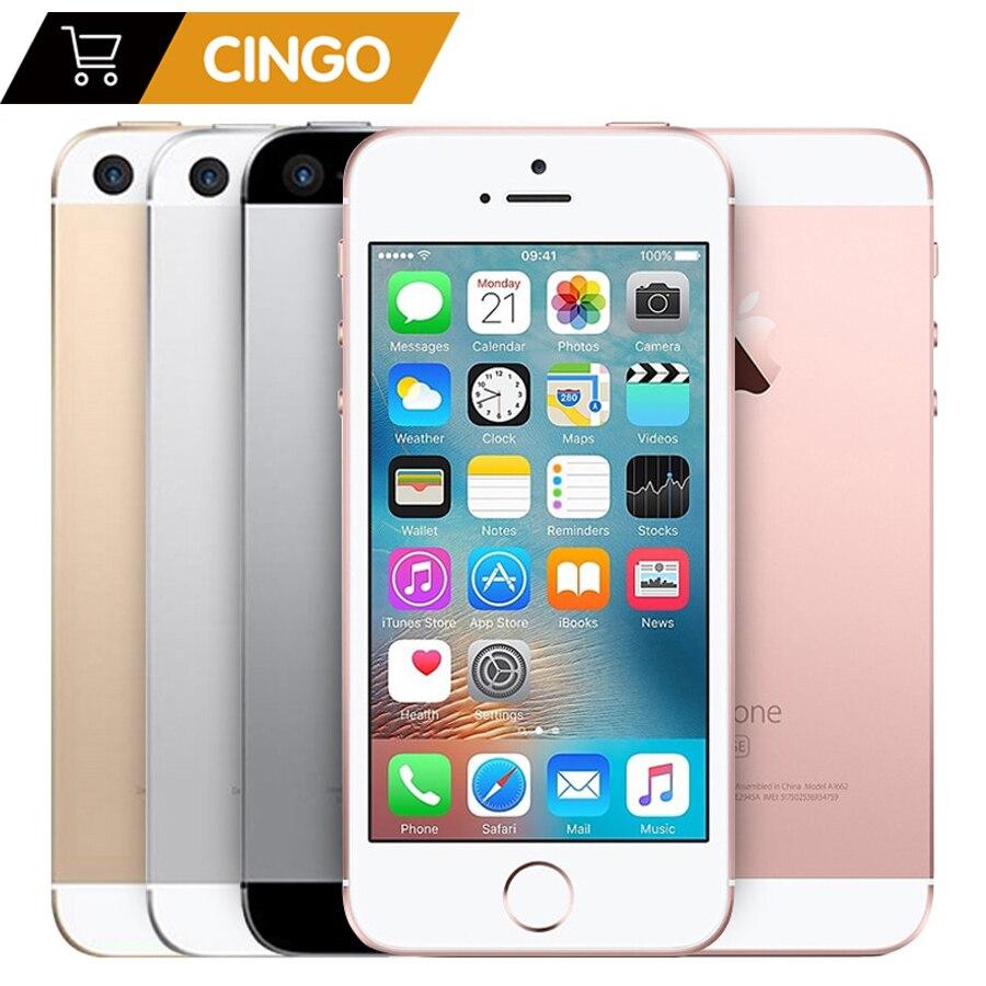 "IPhone SE 2GB RAM 16 GB/32 GB/64 GB/128 GB ROM 4.0 ""débloqué empreinte digitale Original téléphone Mobile a1723 A1662 Apple A9 double cœur"