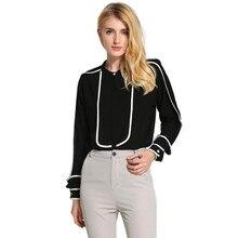 2017 Long Sleeve Blouses Women Blouse Chiffon Hollow Sexy Casual Shirt Plus Size Women Tops Blusas bluse Polka Dots Shirt Top