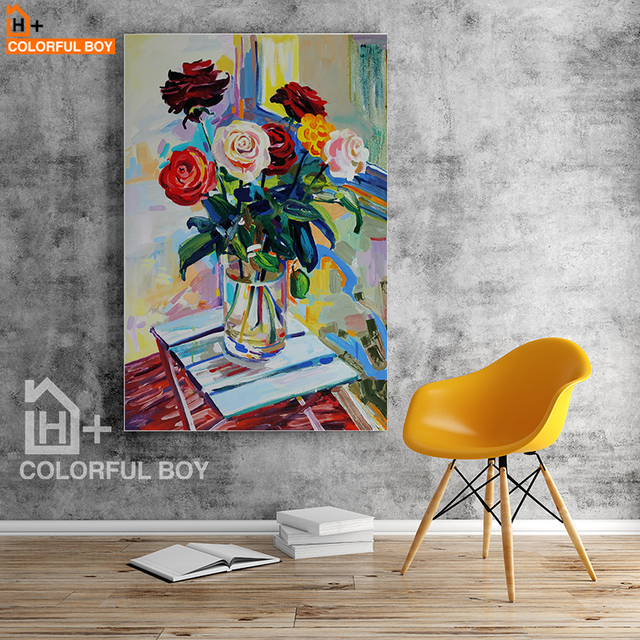 colorfulboy seductive roses flowers canvas painting modern wall art