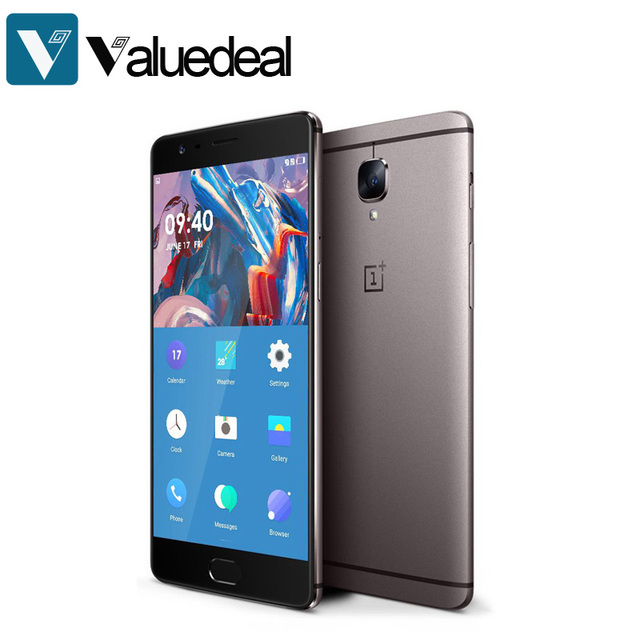 На складе oneplus 3 t a3003 международная версия 5.5 дюймов fhd android 6.0 os snapdragon 821 смартфон 6 ГБ ram 64 ГБ rom телефон