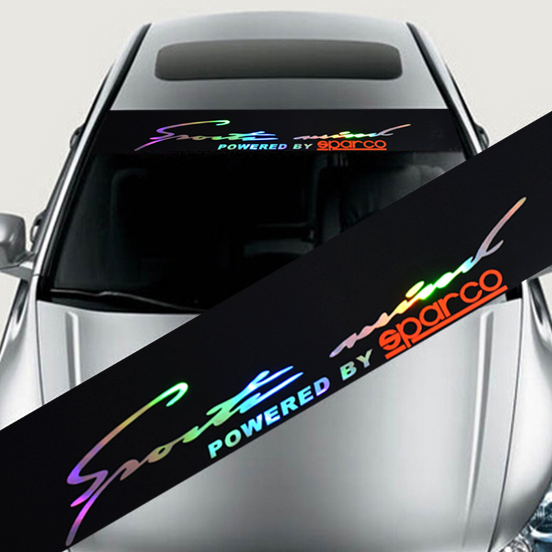 Laser Reflective Letters Auto Car Front Window Windshield Decal Stickers For Honda Civic Mazda Camry auto rain shield window visor car window deflector sun visor covers stickers fit for toyota noah voxy 2014 pc 4pcs set