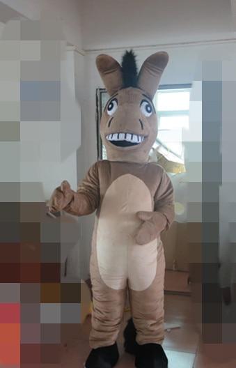 2019 offre spéciale dessin animé professionnel gris cheval mascotte Costume déguisement taille adulte Halloween