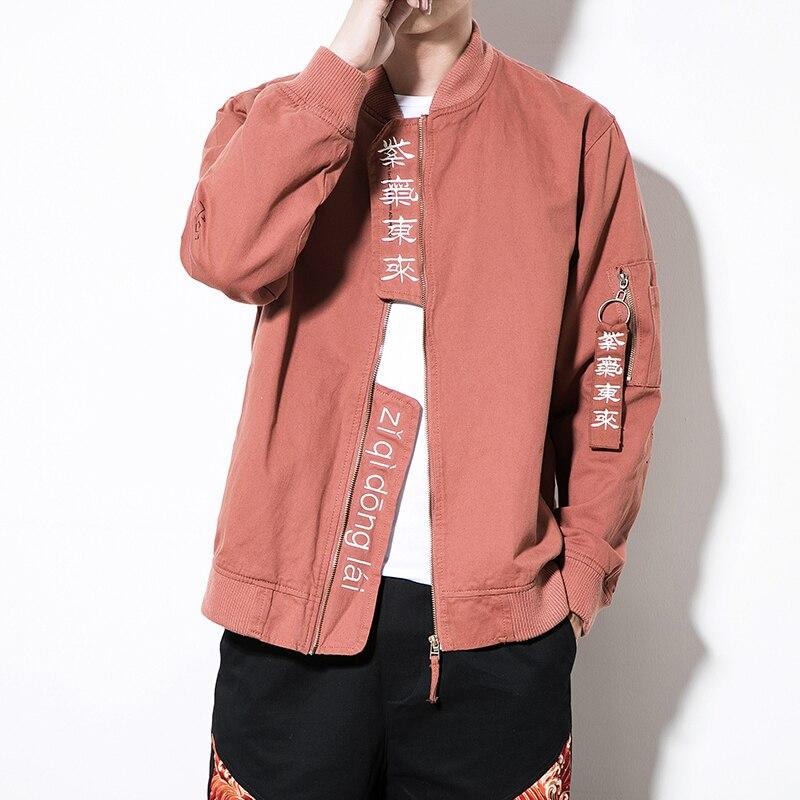 Hop Taille Jackets Hip men Manteaux Mens Hommes Homme 5xl Outwear Orange Black Mode Men M 2018 Lâche Casual Sport Bomber Vestes Plus Fqgn6v