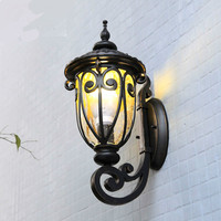 Vintage Retro European Cottage Iron Glass Led E27 Outdoor Wall Lamp For Garden Park Entrance Deco Waterproof Porch Light 2019