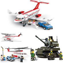 Educational Toys for children Building Blocks DIY helicopter plane self-locking bricks Compatible with Lego