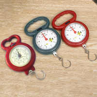 Household Luggage Weight Spring Scale Portable Needle Hanging Fishing Hook Pocket Weighing Scale Balance Steelyard #0314
