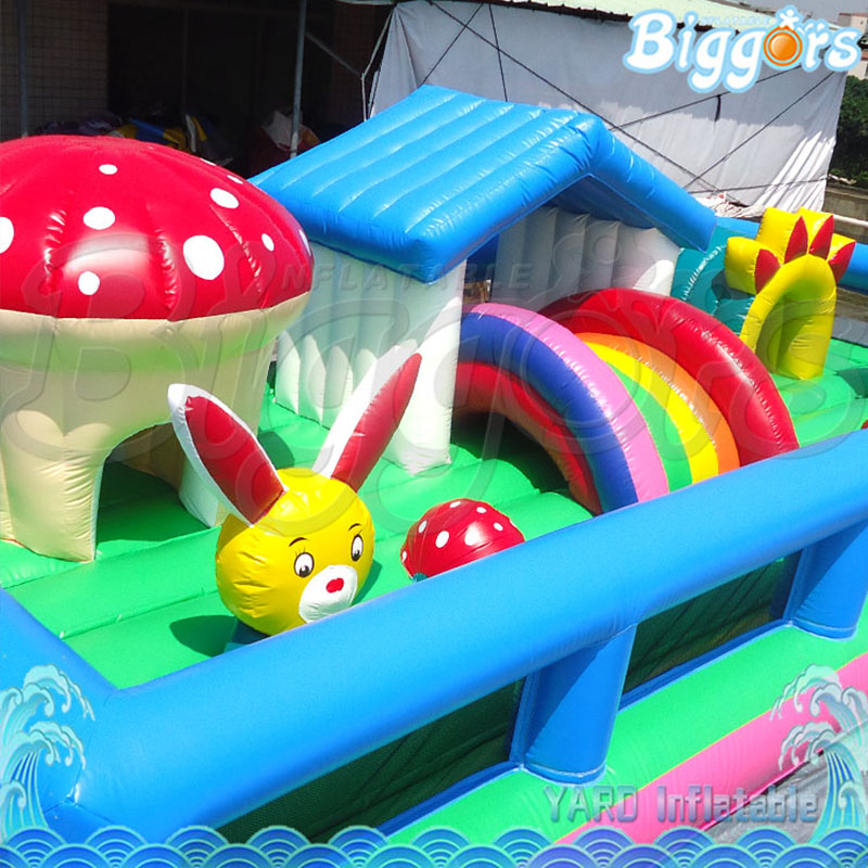 2018 PVC Inflatable House Bouncy Castle Inflatable Trampoline Slide with Blower
