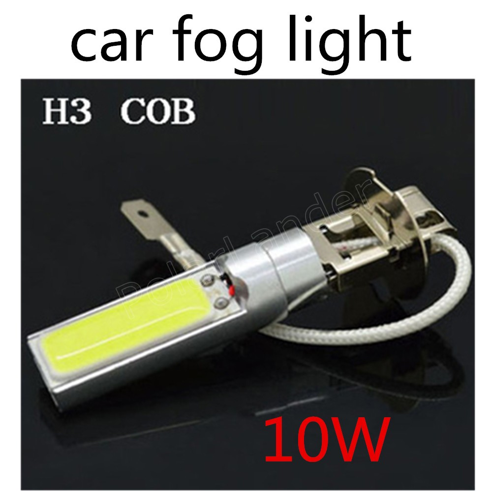 best selling one pair H3 12V 10W led high power car led fog lights lamp bulbs