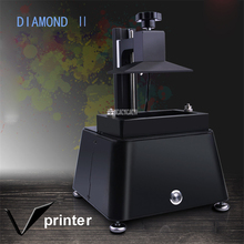 100-250V DIAMOND 2 New 2k LCD printer , DLP printer. SLA 3d printer for destist 120 * 68 * 130mm Print dimension 18W accuracy Zero.03mm