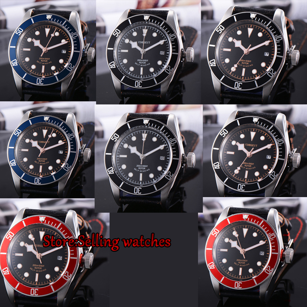 41mm Corgeut watch Sapphire Glass sapphire glass date MIYOTA Automatic movement Men's watch цена 2017
