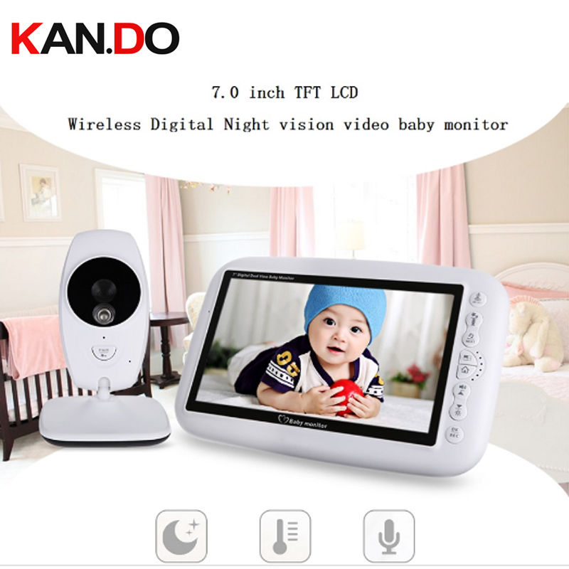 2.4inch Wireless Baby Monitor Night Vision Camera Temperature Monitoring music play two way audio the eld video monitor camera