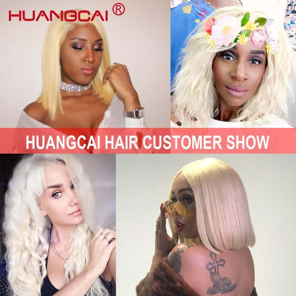 Huangcai Hair 613 Honey Blonde Brazilian Hair Weaves 4 Bundles