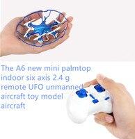 Mini rc drone YD-A6 hoge kwaliteit RC speelgoed 2.4G elektrische kleine vliegende ufo met verlichting 6 axis gyro 360 graden roll rc speelgoed voor gift