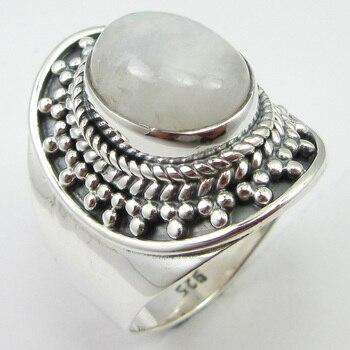 e973aa972001 Arco Iris piedra lunar tamaño anillo 7,75 plata venta al por mayor regalo  diseño único