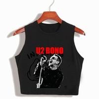 U2 BONO Women S Popular Rock Band Cropped Tank Top 90S Ladies Summer Fashion Sleeveless Crop