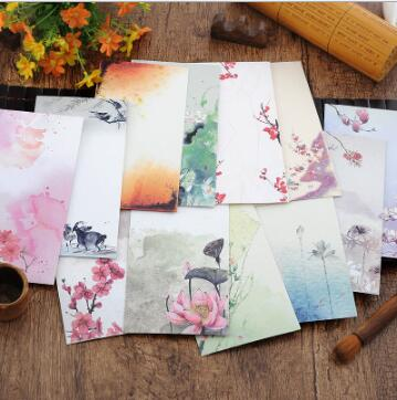 10pcs/set Vintage Chinese Style Vintage Craft Paper Envelope For Letter Paper Postcards Korean Stationery