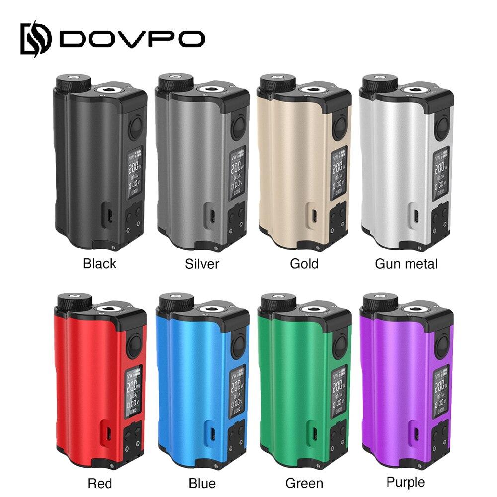 Nouvelle D'origine 200 W DOVPO Topside Double Top Remplir TC Squonk MOD avec 10 ml Squonk Bouteille E-cig vaporisateur Boîte Mod VS/Glisser 2/Naboo Mod