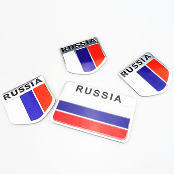 1Pcs Car 3D Russian Flag Badge Sticker Car Modeling for BMW 1 2 3 4 5 6 7 Series X1 X3 X4 X5 X6 325 328 F30 F35 F10 F18 GT image