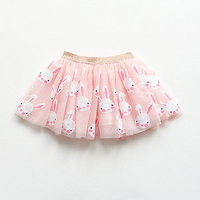 Cute Baby Girls Ball Gown Skirt Children S Clothing Summer Autumn Apparel Lovely Rabbit Sequins Kids