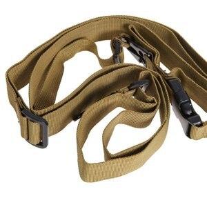 Image 2 - Nylon réglable Multi fonction tactique unique point élastique Airsoft sangle de chasse fournitures 3 couleurs