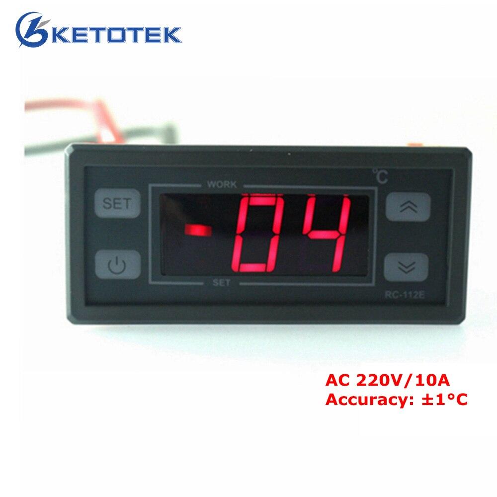 2017 New 220V 10A Digital LCD Thermostat Regulator Temperature Controller with 2M NTC sensor Power supply AC220V 110V DC12V 24V цена