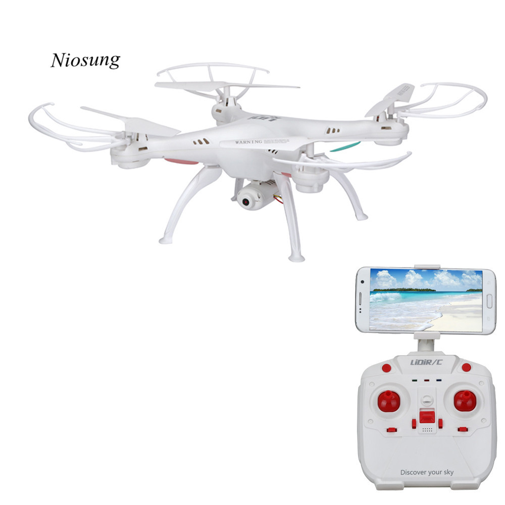 Hot Sale LiDiRC L15W 4CH HD Camera WiFi FPV 2.4G 6-axis Gyro RC Quadcopter Altitude Hold jjr c jjrc h43wh h43 selfie elfie wifi fpv with hd camera altitude hold headless mode foldable arm rc quadcopter drone h37 mini