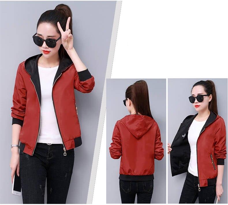 HTB19dHcXBCw3KVjSZFlq6AJkFXao Windbreak Jacket Women Long Sleeve Hooded Coats Spring Autumn Casual Solid Zip Up Basic Jackets for Women