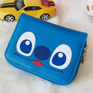 Image 5 - Disney Cartoon Mickey Mouse Print Leather Wallet Women Clutch Bags Trendy Fashion Female Ladies Credit Card Purse Money Bag