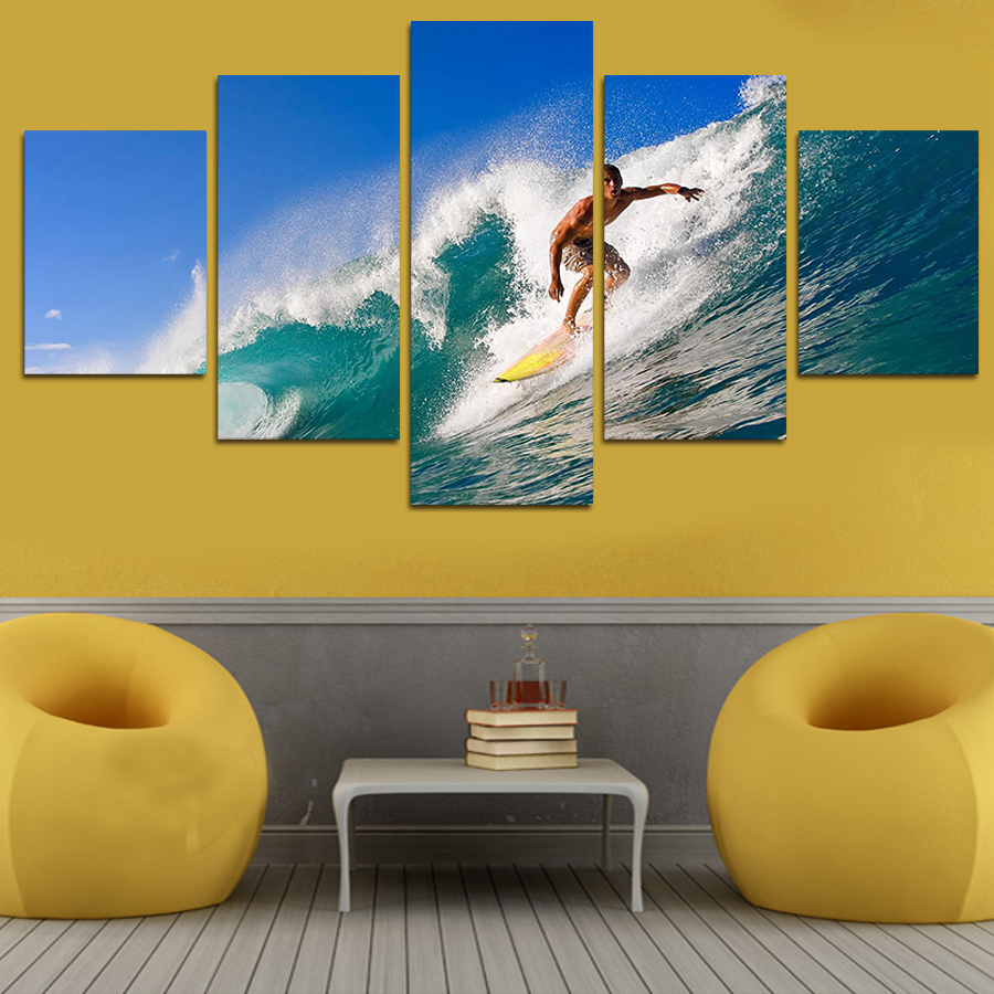 Colorful Beach Wall Decor For Living Room Sketch - Wall Art ...