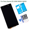 5.0 inch For Sony Xperia Z2 L50W D6502 D6503 LCD Display Digitizer Touch Screen with adhesive + Tools replacement part , Black