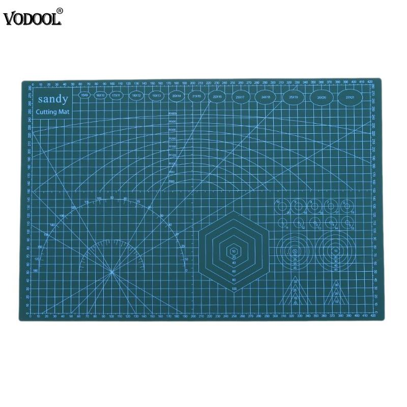 A3 PVC Cutting Mat Cutting Pad Patchwork Tools Self Recovery Manual DIY Tool Cutting Board Double Side Measuring Stationery