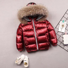 2018 Winter Coat For Kids Girls Down Parka With Fur Collar Warm Boys Hooded Jackets For Children Snowsuit Girls Down Jackets